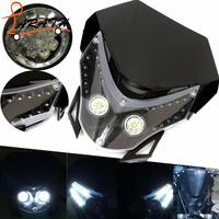 Black Color Motorcycle Dirt Bike Motocross Supermoto Universal Led Headlight For CRF CR XR CRM Headlamp