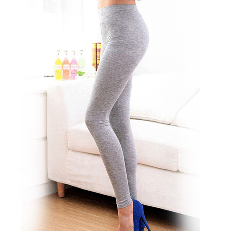 2018 Free shipping Summer Style Candy Color Women Cropped Leggings  3/4 Length Lady Leggins High Elastic Pants HOT