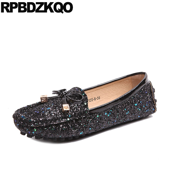 loafers black autumn spring bling