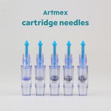 20 pcs Artmex Cartuccia aghi MTS Sistema di Terapia 9/12/24/36/42/nano Aghi microneedle Per V8 V6 V3 A3 Vite di macchina Porta