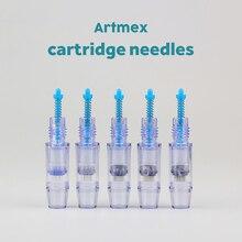 20 pcs Artmex kim Cartridge MTS Điều Trị Hệ Thống 9/12/24/36/42/nano Kim microneedle Cho V8 V6 V3 A3 máy Trục Vít Cổng