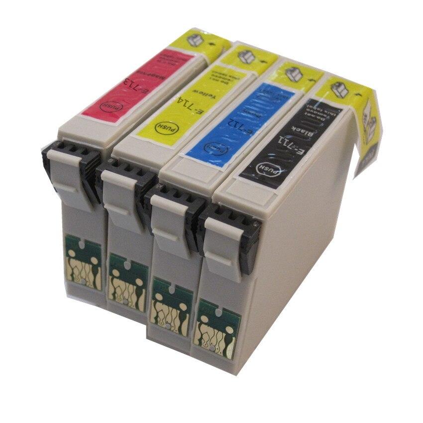 Freies Verschiffen T0711 T0712 T0713 T0714 Kompatibel tintenpatrone Für Epson D120, D78,...