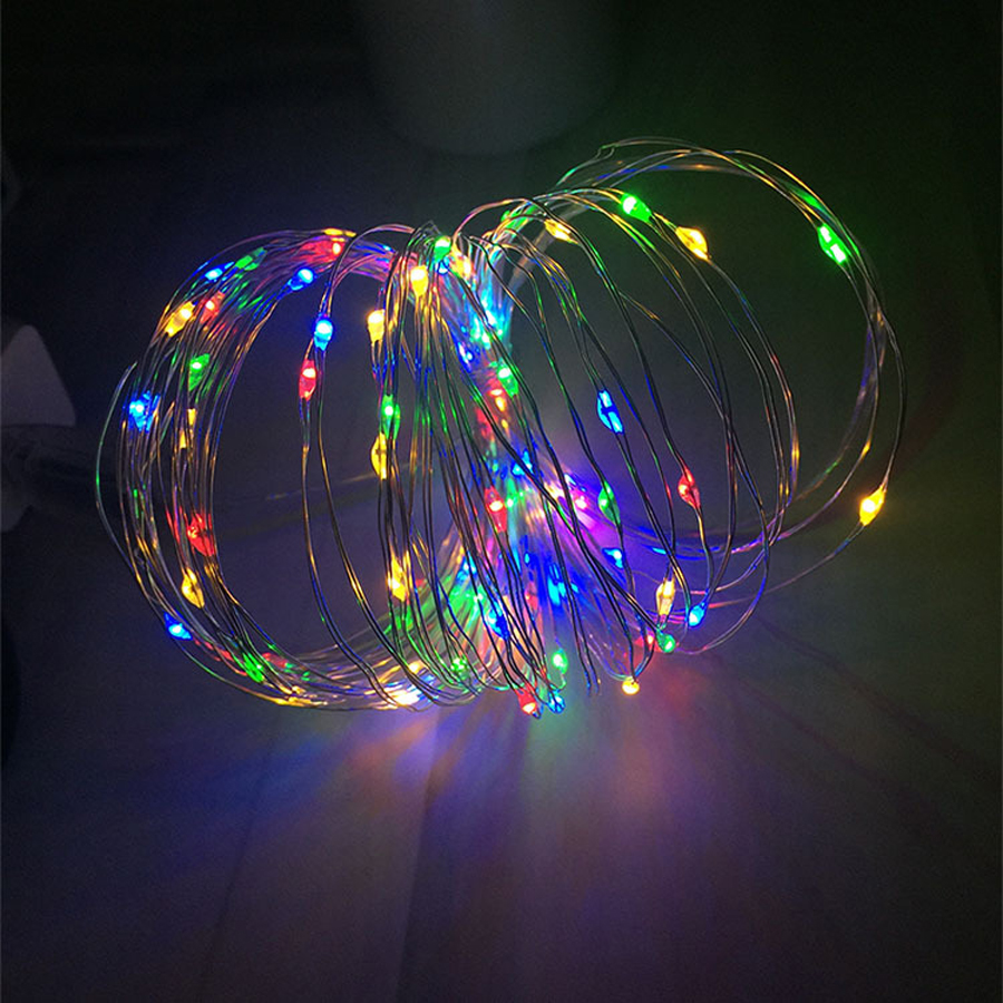 Waterproof Copper Wire <font><b>Lights</b></font> RGB LED String outdoor Led <font><b>Lights</b></font> strip with battery <font><b>for</b></font> Christmas Wedding <font><b>Home</b></font> Party <font><b>Decoration</b></font> image