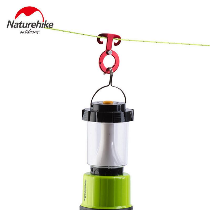 Naturehike 4pcs/pack T-type outdoor multifunctional aluminum adjustable folding buckle hanging hooks for tent wind rope