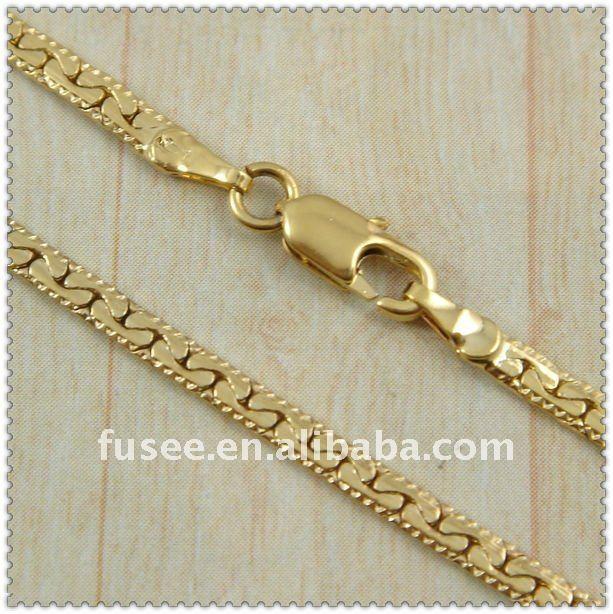 18K gold plated men Necklace F1420013 .10 2pcs/lot