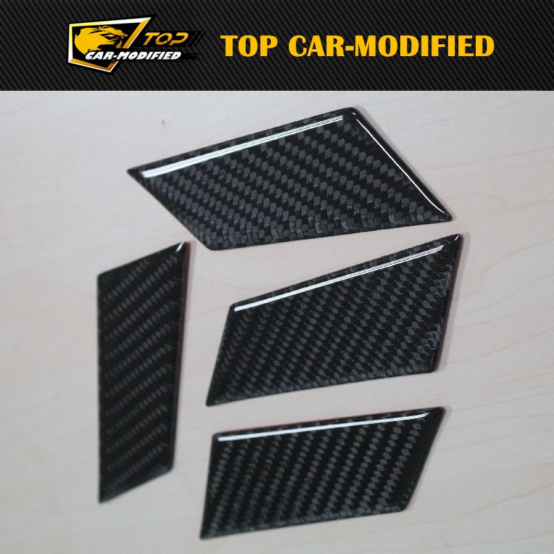 Free Shipping Carbon fiber auto inner doors for Porshe macan,auto stick on inner door handle trim for nissan r35 gtr carbon fiber door mirror inner panel trinagle