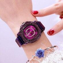 Women Quartz Watch Fashion Bling Casual Ladies Female Gold Crystal Diamond Clock Dropshipping