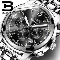 Швейцарские автоматические механические часы для мужчин Binger  роскошные брендовые часы  мужские часы с сапфиром  водонепроницаемые часы  reloj...