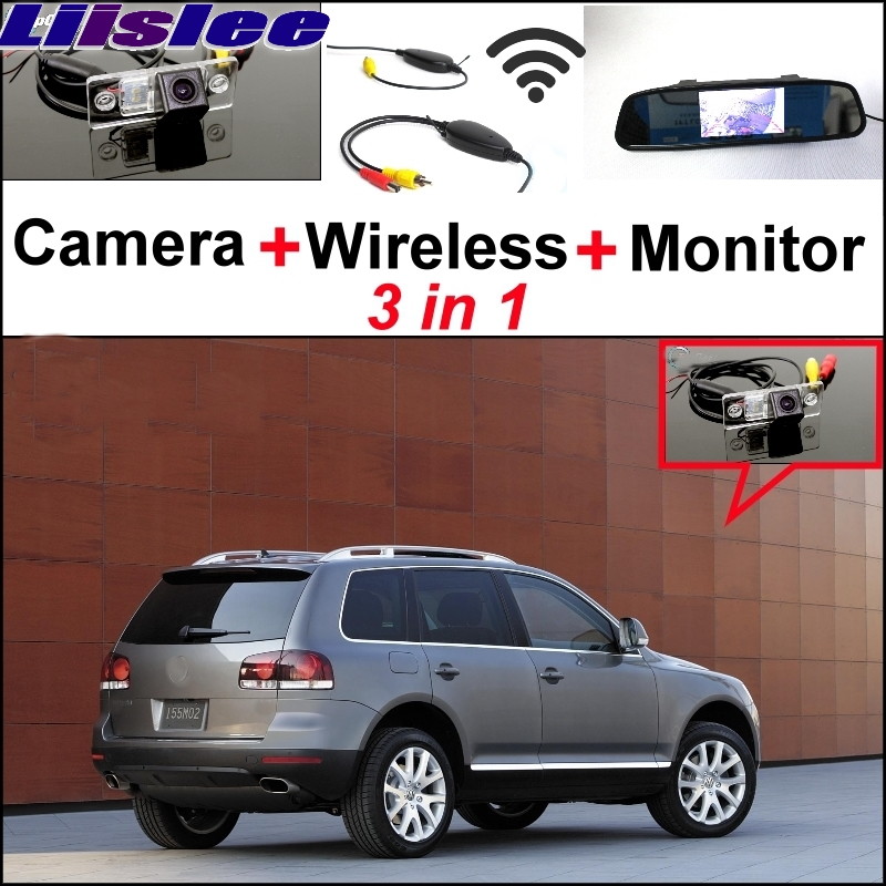 Liislee 3 in1 Special Wifi Camera + Wireless Receiver + Mirror Monitor Easy DIY Back Up Parking System For Volkswagen VW Touareg liislee wifi wireless ccd camera