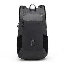 Portable Folding Travel Backpack Waterproof Wearable Knapsack School Bags for Teenage Girls College Men Bagpack Canvas Bag Gray цена 2017