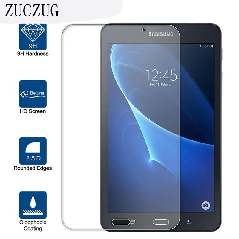 """9H 0.3mm Ar gyfer Samsung Galaxy Tab A 7 """"2017 Gwydr Cymedrol ar gyfer Samsung Tab A 7"""" Amddiffynnydd Sgrîn 2017 T280 T285 Tempered Glass"""