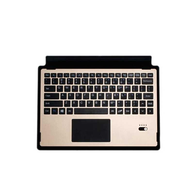 Para Microsoft Surface 3 teclado Bluetooth funda inalámbrica para Microsoft Surface 3 tableta aleación de aluminio Flip Stand Cover + Stylus