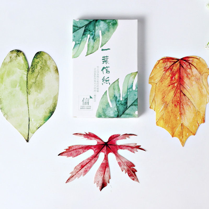 30 Pcs/lot Japanese Kawaii Greative Gift Cute Stationery Four Seasons Leaves Postcard Bookmarks Colorful Cards School Supplies