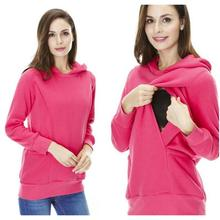 Winter Maternity Clothes Pregnant Cotton Breastfeeding Tops nursing clothes for pregnant women Maternity Hoodie sweater WD3