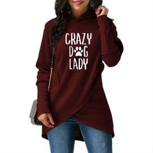 High Quality Large Size 2018 New Fashion Faith Print Kawaii Sweatshirt Crazy Dog Lady Crossover Hoodie