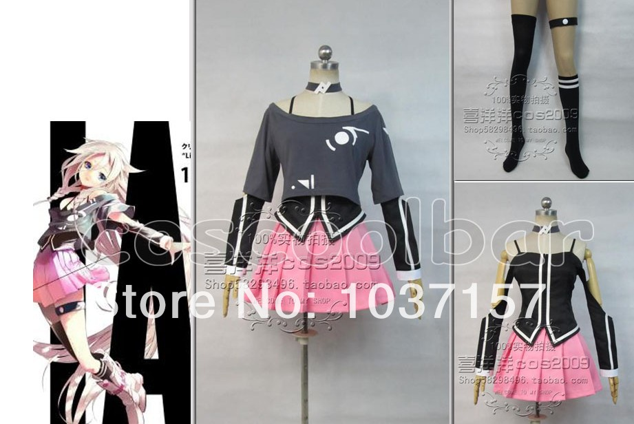 New Free Shipping Vocaloid 3 Library IA font b cosplay b font costume Handmade Custom
