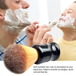 Кисть для бритья синтетическая кисть для волос черная ручка щетка для бритья Профессиональный иструмент для парикмахерской