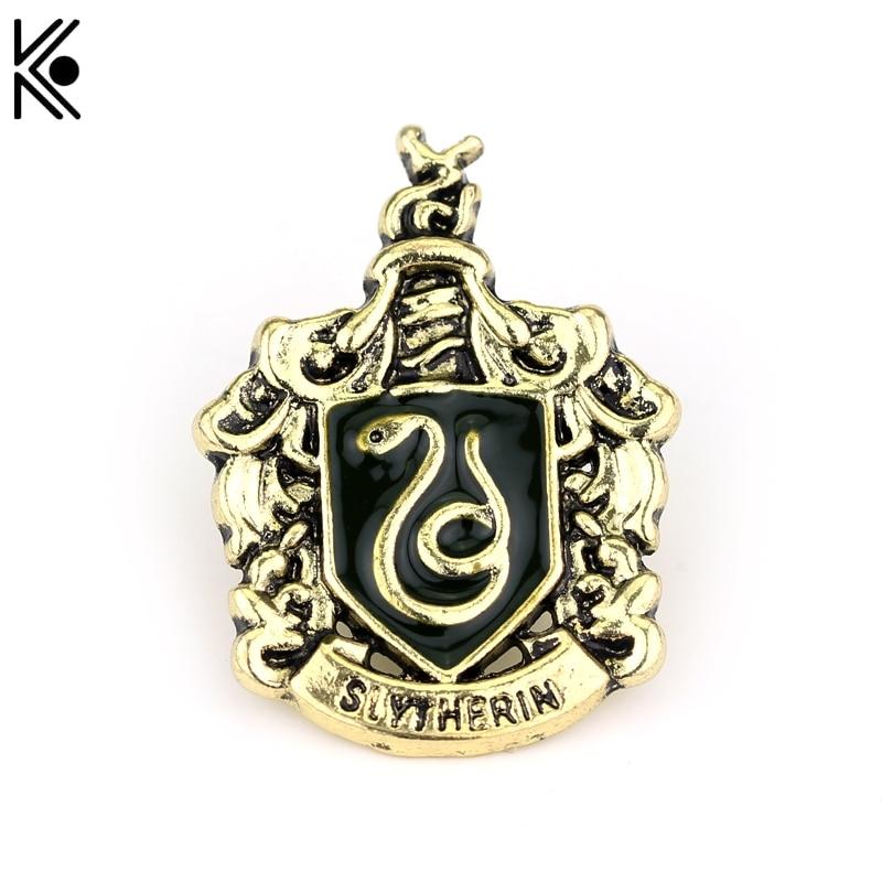 Slytherin badge brooch hogwarts magic school high quality - Gryffindor crest high resolution ...