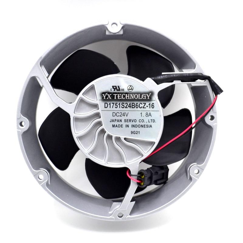 New and original inverter fan 24V 1.8A fan  D1751S24B6CZ-16  ABB axial fan cooling fan 172*50mm