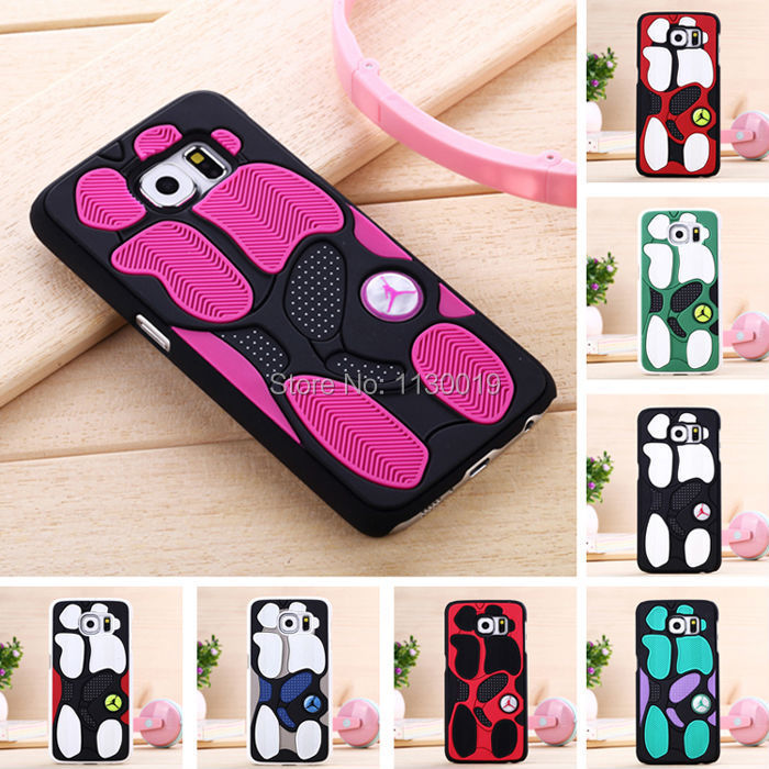 huge selection of ae143 b443f US $4.0 20% OFF|NEW Air Jordan Shoe Sole PVC+Rubber Case For Samsung Galaxy  S6 G9200, 3D AJ jumpman23 Back Cover Phone Cases Russia Free Ship-in ...