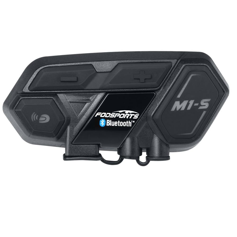 Bluetooth 4.1 M1-S motorcycle bluetooth helmet headset intercom up to 8 riders group talking motorbike waterproof interphone