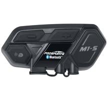 Bluetooth 4,1 M1-S мотоцикл bluetooth гарнитура для шлема, домофон до 8 райдеров группового говорить мотоцикл Водонепроницаемый переговорные