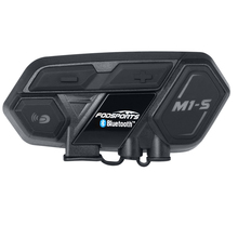 Bluetooth 4 1 M1 S motorcycle bluetooth helmet headset intercom up to 8 riders group talking