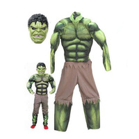 New Avengers Hulk Costumes For Kids Fancy Dress Halloween Carnival Party Cosplay Kids Clothing Decorations Supplies