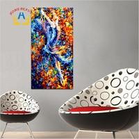 Pintura al óleo por números abstracto grande danza Girl modular lienzo imagen para sala Decoración para el hogar DIY pintura digital sy045