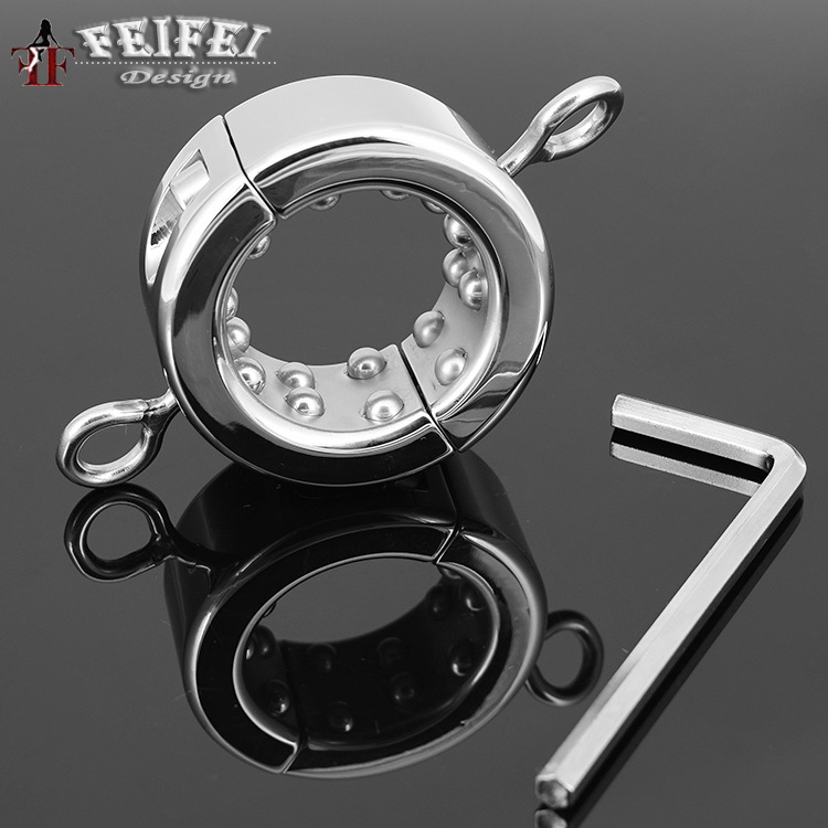 Stainless Steel With Beads massage Scrotum Pendant cock sleeve Male Chastity Device Cock Penis Ring For Men Sex Toys Products penis rings 590g heavy stainless steel cock ring adult sex toys for men chastity device penis sleeve metal penis cock ring
