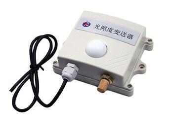 RS485 0-20WLux Illuminance,temperature and humidity three-in-one Transmitter Temperature and humidity light intensity sensor