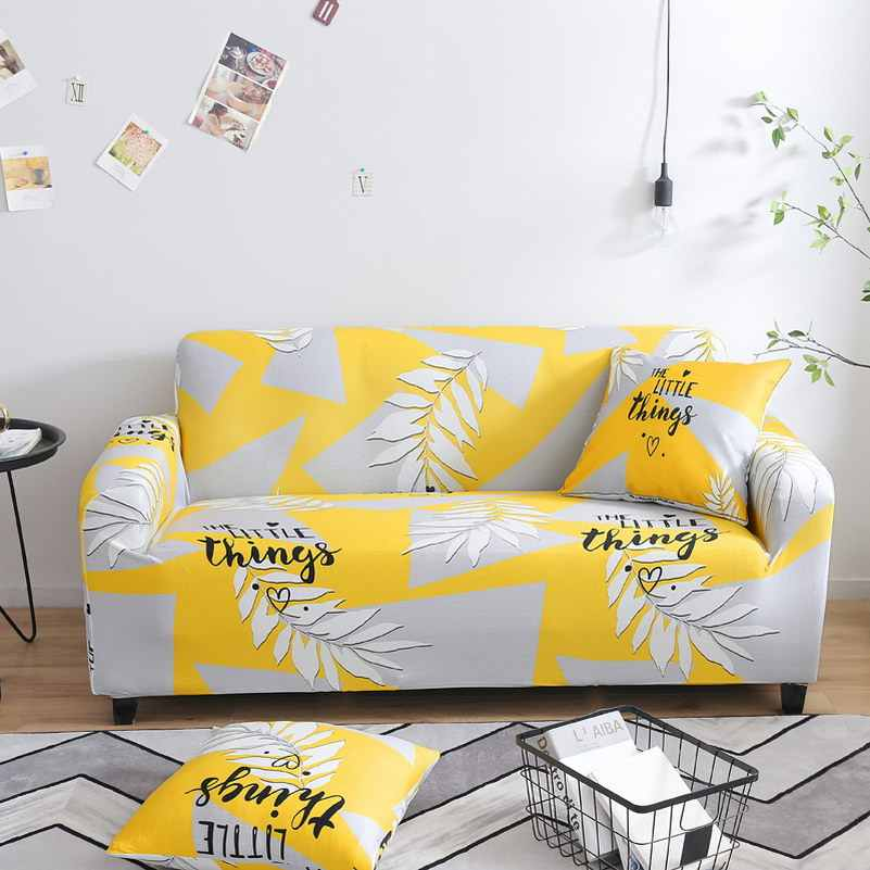 New Plants Sectional Stretch Sofa Covers Elastic Slipcovers All-inclusive Polyester Sofa Cushion Sofa Towel for living room
