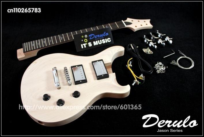 DIY Electric Guitar Kit  Solid Mahogany Body canadian maple Neck  UnfinishedDIY Electric Guitar Kit  Solid Mahogany Body canadian maple Neck  Unfinished