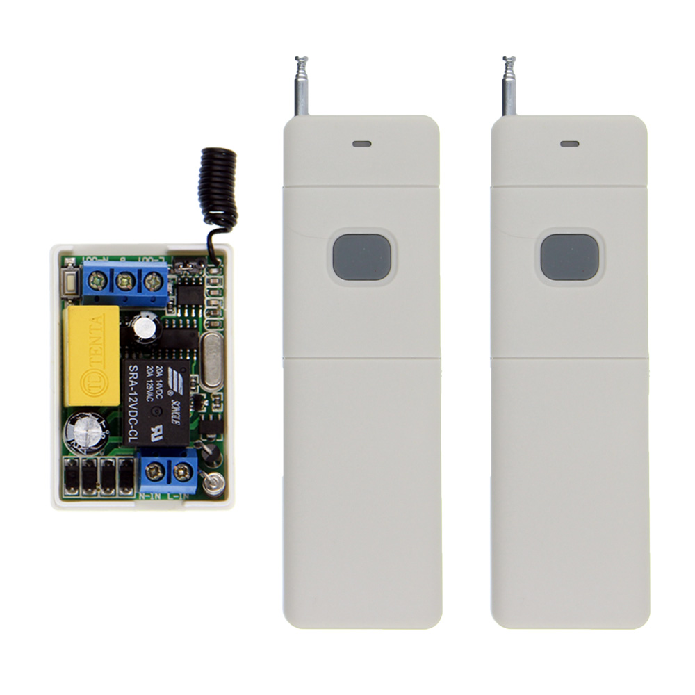 3000m Long Range AC 220V 1 CH 1CH Relay RF Switch Remote Control Transmitter + MIni Relay 10A Receiver,Toggle ac220v 10a relay remote control lighting switch 315 433mhz transmitter 2 receiver long range remote switch momentary toggle