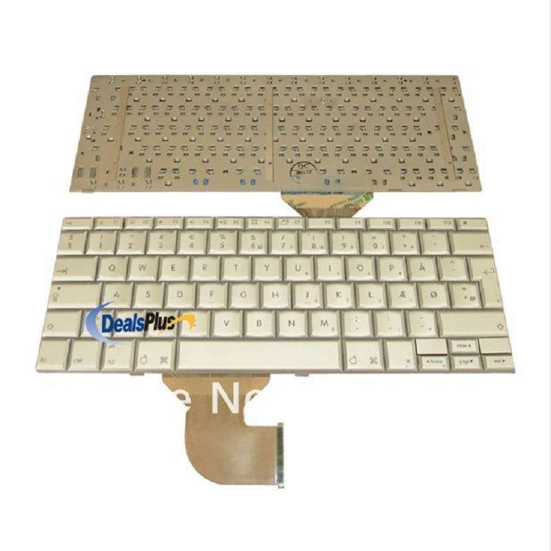 Laptop keyboard For NEW APPLE POWERBOOK G4 12 Series DM Danish Keyboard laptop keyboard for acer silver without frame danish dk v 121646ck2 dm aezqsm00110