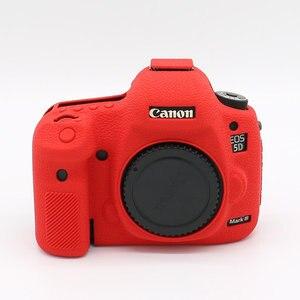 Image 3 - סיליקון שריון עור מקרה גוף כיסוי מגן נגד החלקה מרקם עיצוב עבור Canon EOS 5D סימן III 3 5D3 /5Ds R/5Ds מצלמה רק