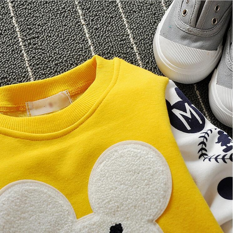 The new cartoon pattern fashion 0-2 year-old male and female baby long-sleeved clothes + free gifts 7