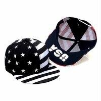 2017 Fashion Street Dance Cool Hip Hop Caps USA Flag Snapback Snap Back Baseball Caps Hats