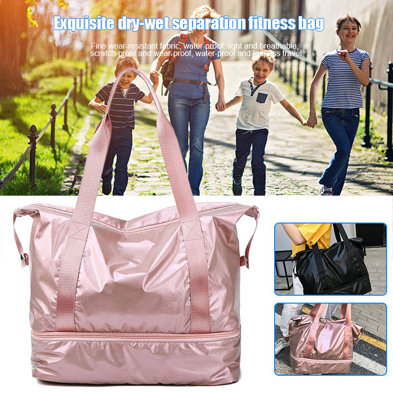 Travel-Bag Handbag Large-Capacity Fitness Waterproof for Xr-Hot Separate Wet-Dry Double-Layer