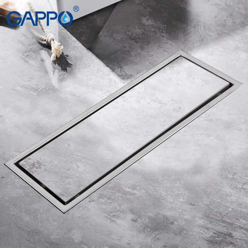 GAPPO 排水ステンレス鋼 recgangle フロアカバー浴室廃棄物排水シャワードレンストレーナ抗臭水排水ストレーナー