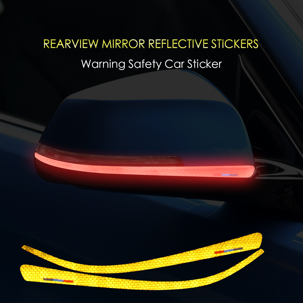 Reflective Tape Anti-collision Side Rearview Mirror Car <font><b>Sticker</b></font> For <font><b>BMW</b></font> 1 2 3 4 series GT F20 F34 F30 <font><b>F31</b></font> F22 F32 F33 F36 X1 E84 image