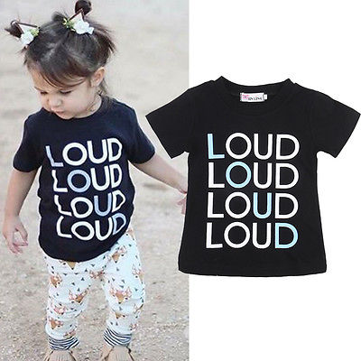 Emmababy Boys Tshirt Clothing Short-Sleeve Loud-Printed Baby-Girls Cotton Child Summer