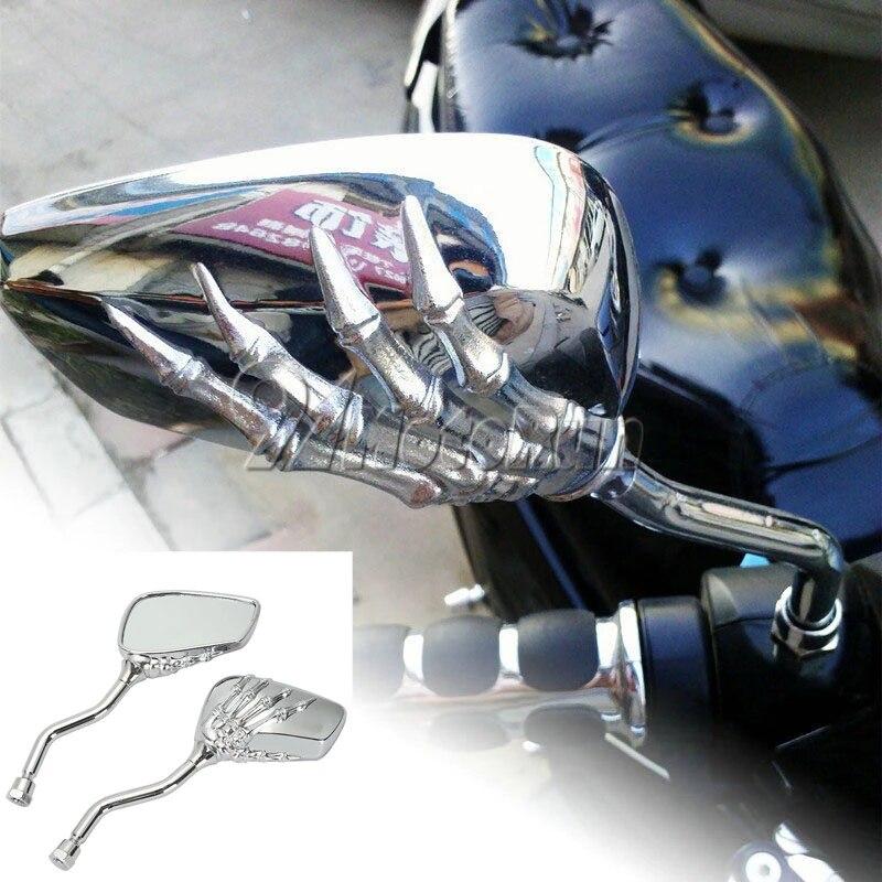 Skull Rearview Mirrors for Honda Shadow ACE Saber Spirit VT1100 750 600 Cruiser