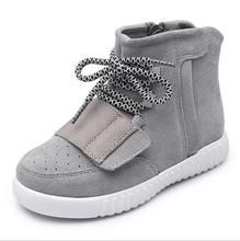 2016 spring new fashion Kids Children shoes Boys and Girls leather high-top shoes sport Child sneakers Boots