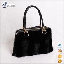 fashion Mink fur handbag real fur lady shoulder bags