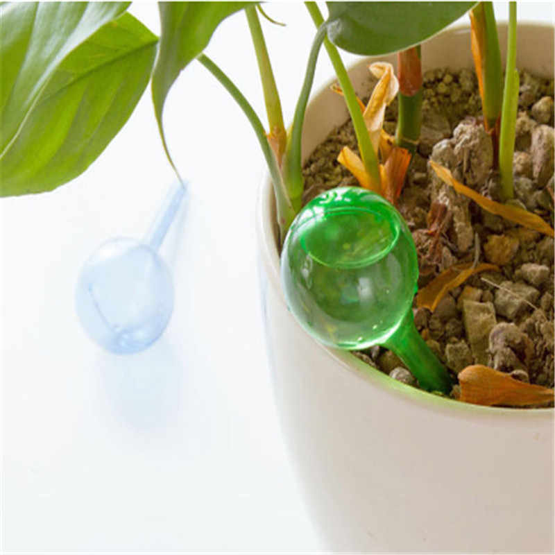 Practical PVC Travel House Plant Self Watering Bulb Shape Water Automatic Irrigation Patio Lawn Garden Pot Planter Cans  2 color