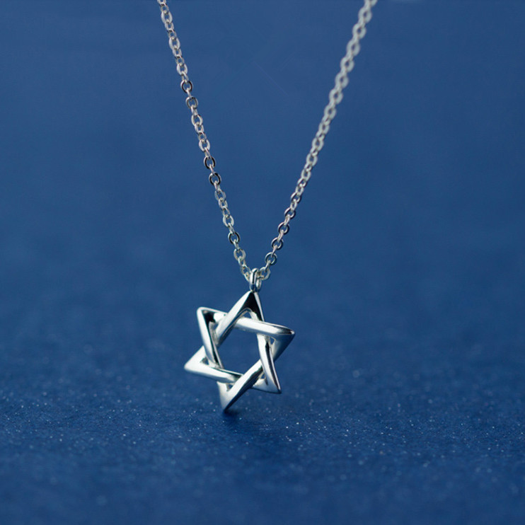 MIESTILO David Star 925 Sterling Silver Necklaces & Pendants | Star of David Magen Hebrew Shield Sterling-silver-jewelry