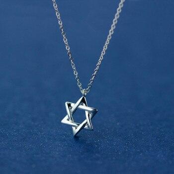 3eb93ab05706 MIESTILO David Star 925 collares y colgantes de plata de ley ...