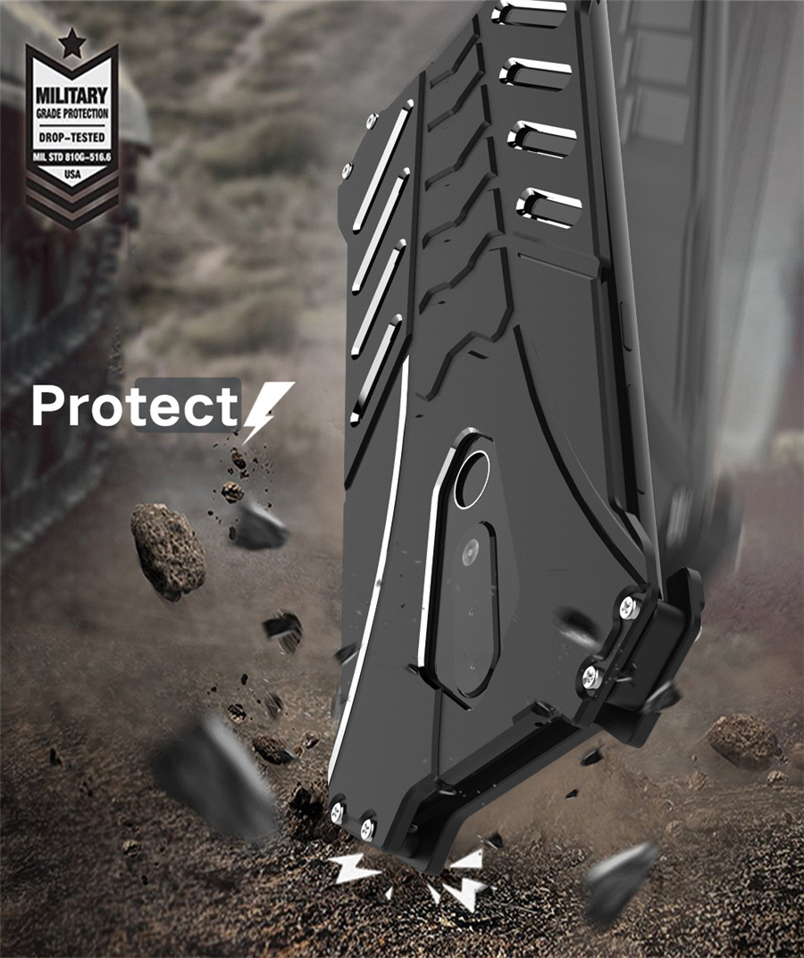 For Nokia X5 Case Original R-JUST Batman Armor Aluminum Metal For Nokia 5.1 plus Case Shockproof Coque (4)