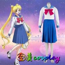 Косплей японского аниме Сейлор Мун моряк студенты костюм Школьная форма одежды COS